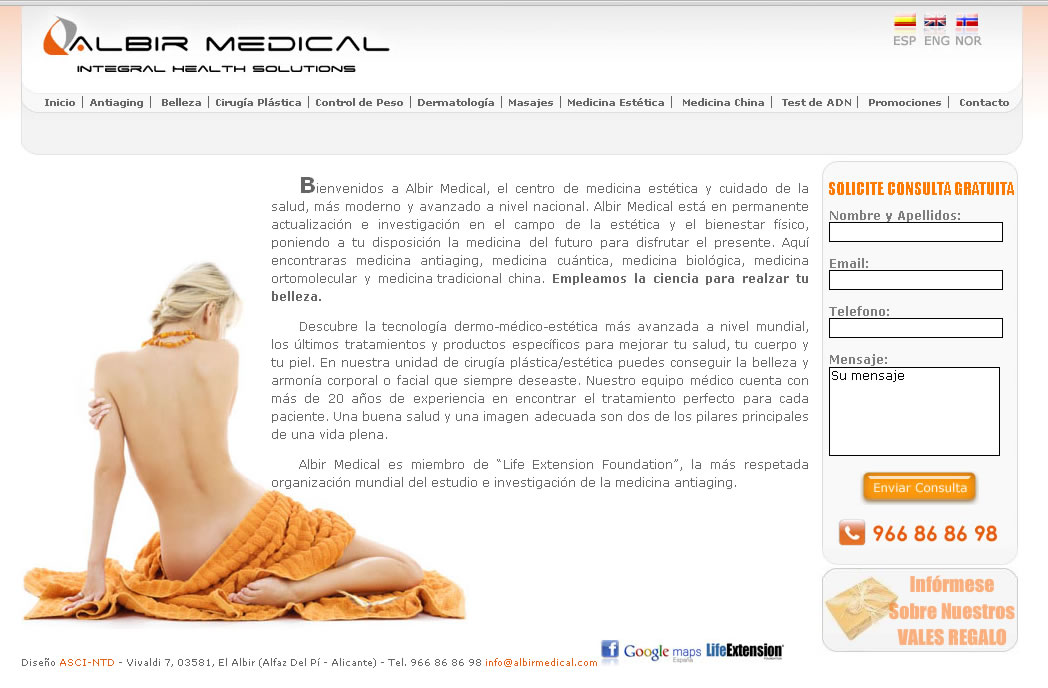 Albir Medical - Diseño web a medida