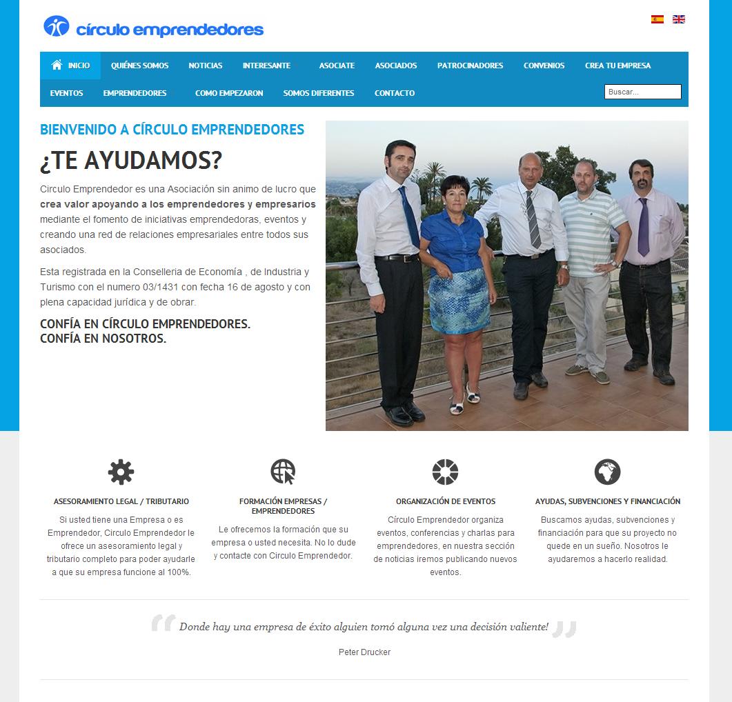 Diseño Página Web - Circulo Emprendedores
