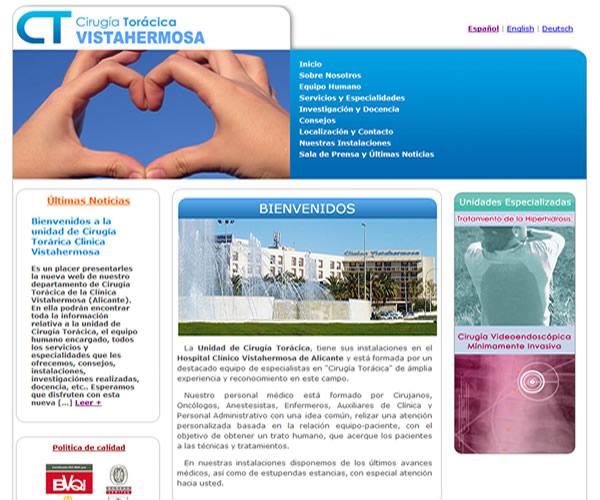 Clínica Torácica Vistahermosa - Diseño web a medida