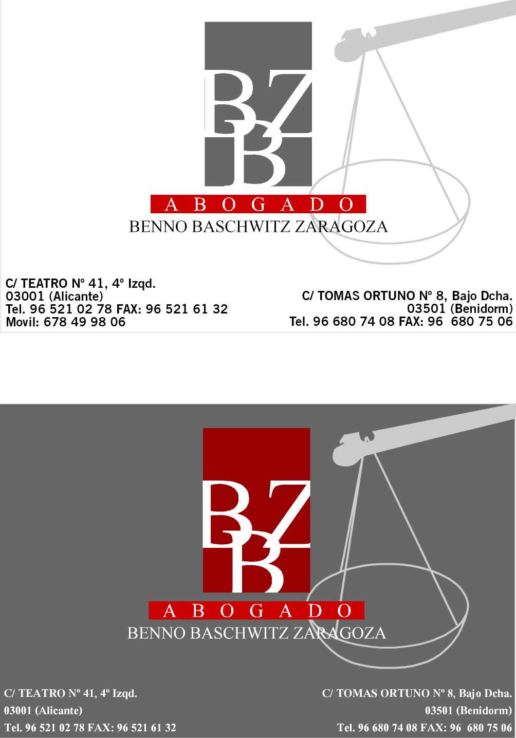 Benno Baschwitz – Abogado