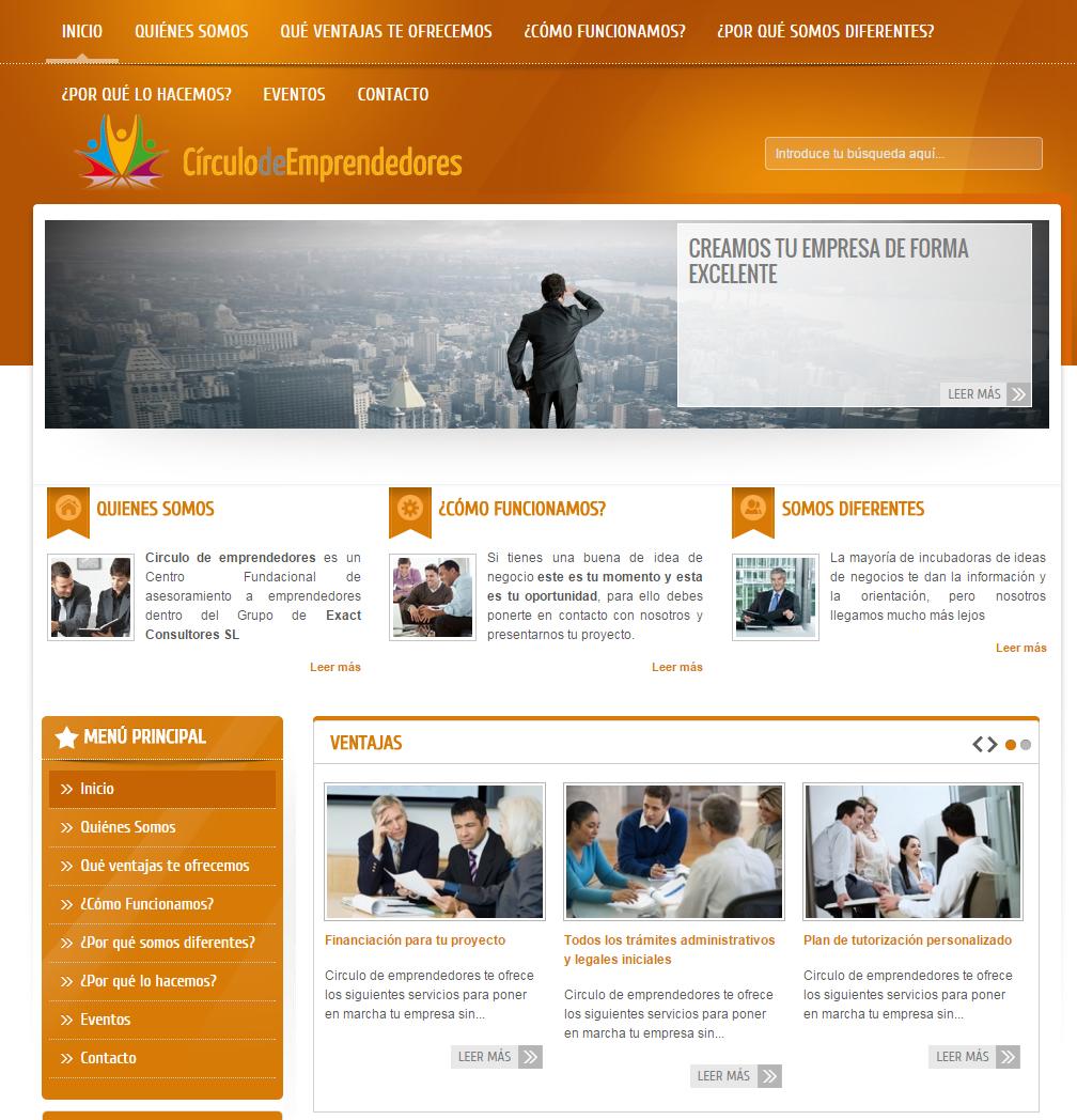 Página Web – Círculo De Emprendedores – Alfaz Del Pí – Joomla