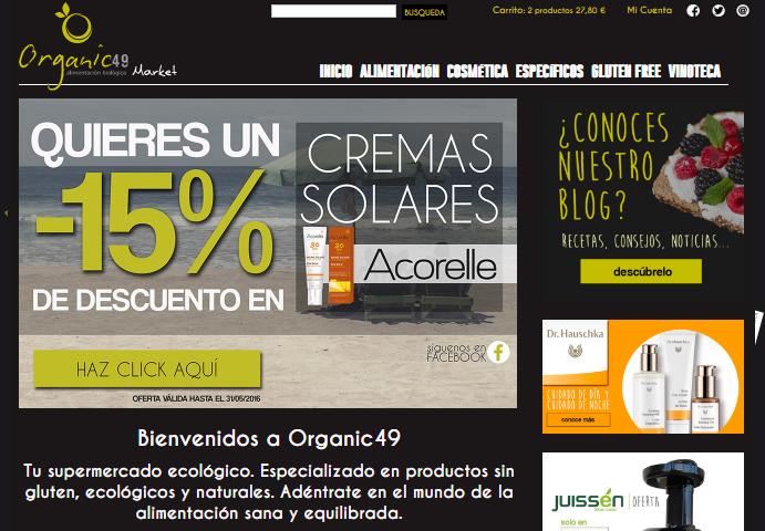 Maquetación diseño para Organic49Market